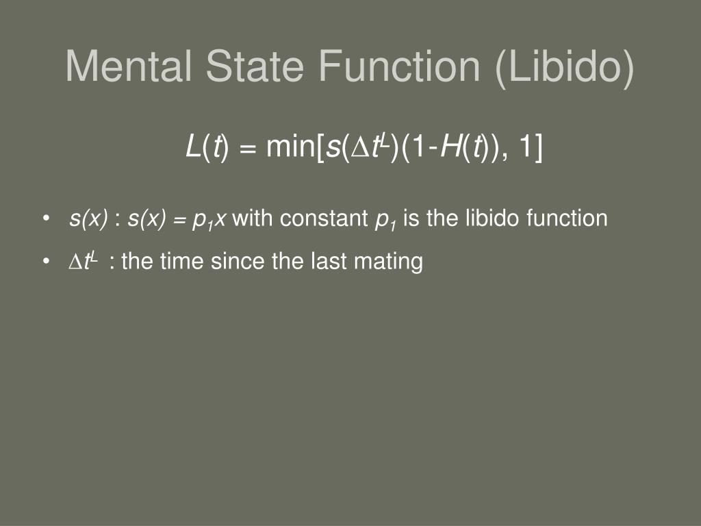 Mental State Function (Libido)