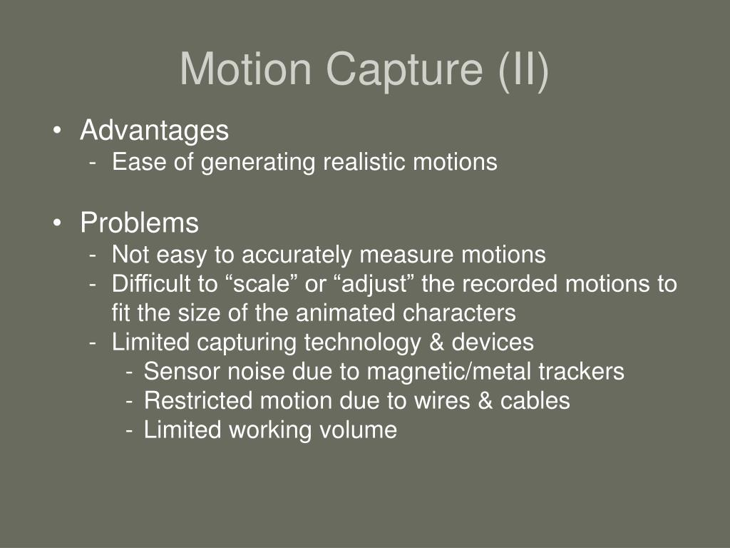 Motion Capture (II)