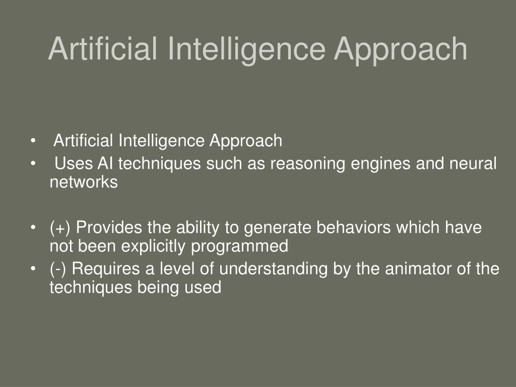 Artificial Intelligence Approach