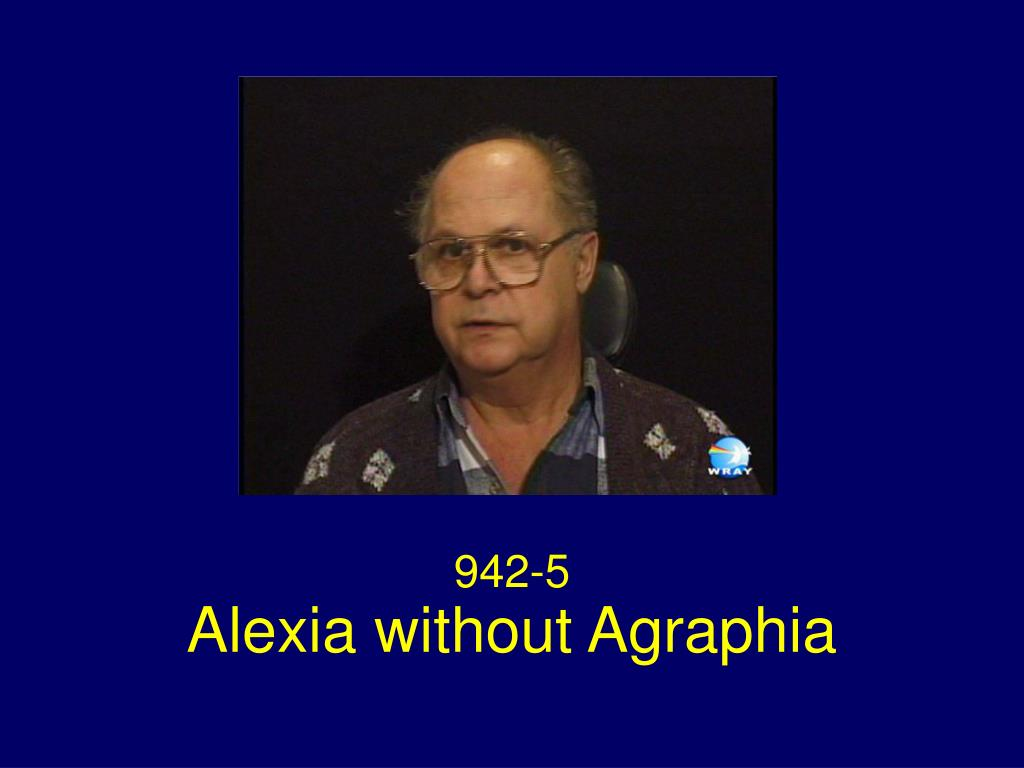 alexia without agraphia l.