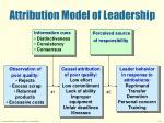 attribution model of leadership