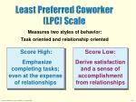 least preferred coworker lpc scale