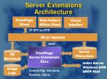 server extensions architecture