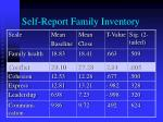 self report family inventory