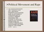 political movement and rape