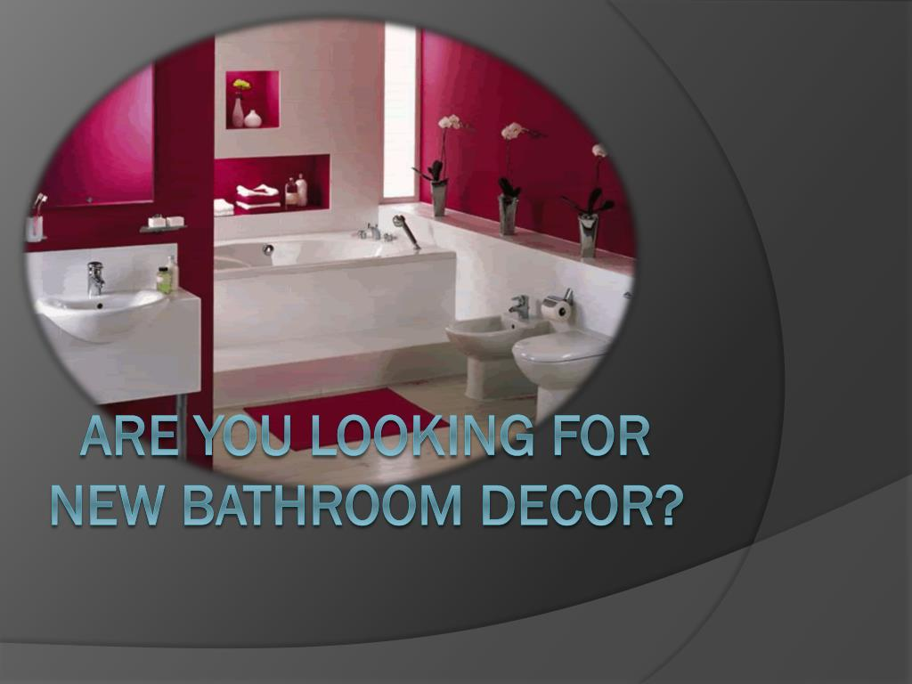 are you looking for new bathroom decor l.