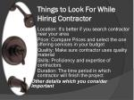 things to look for while hiring contractor