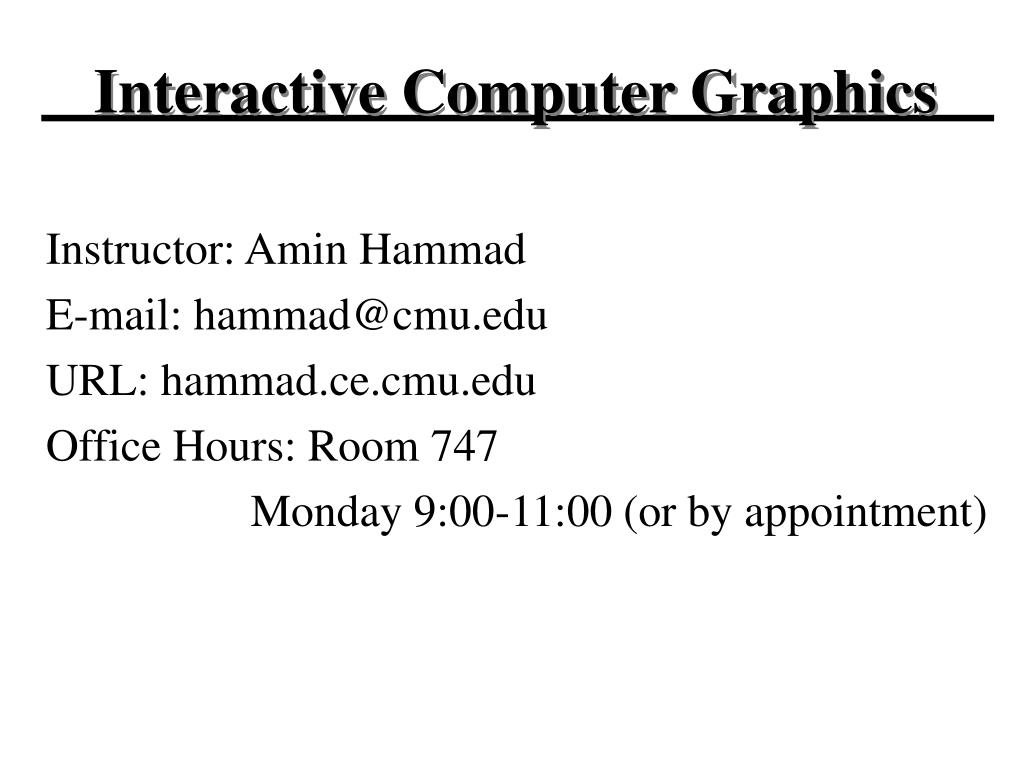 interactive computer graphics l.