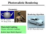 photorealistic rendering