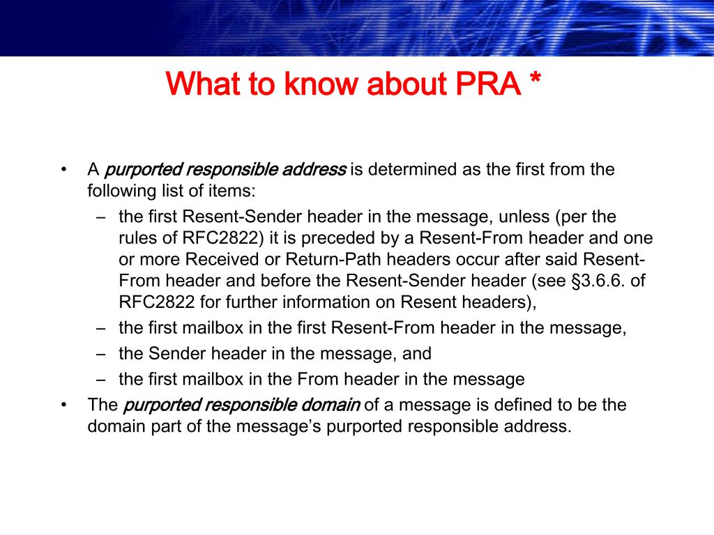 What to know about PRA *