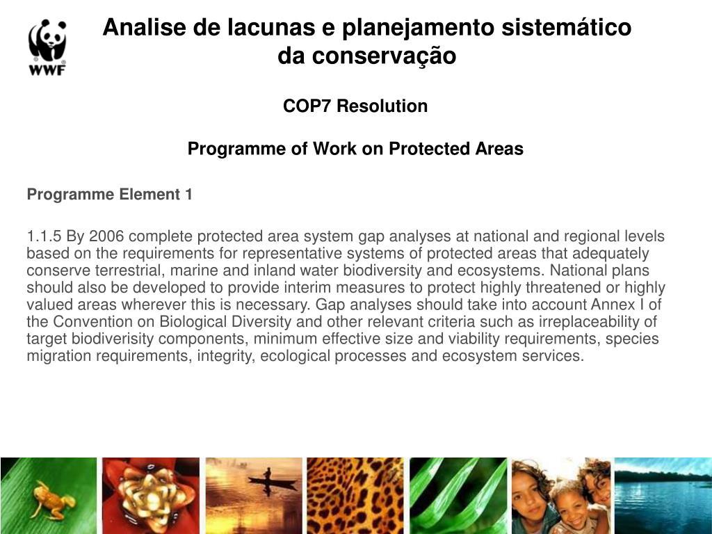 Analise de lacunas e planejamento sistemático da conservação