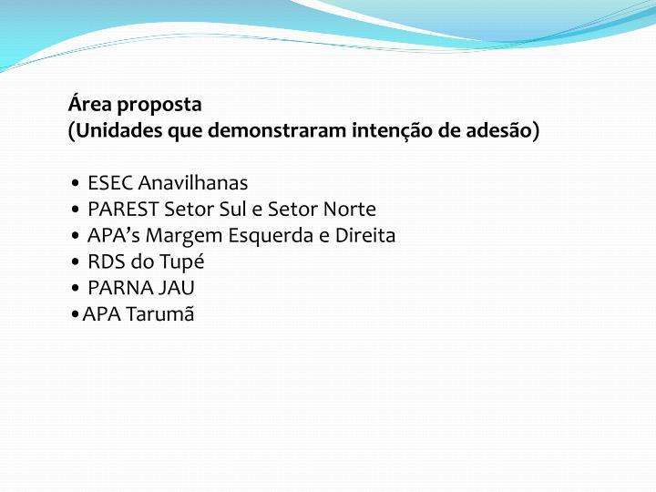 Área proposta