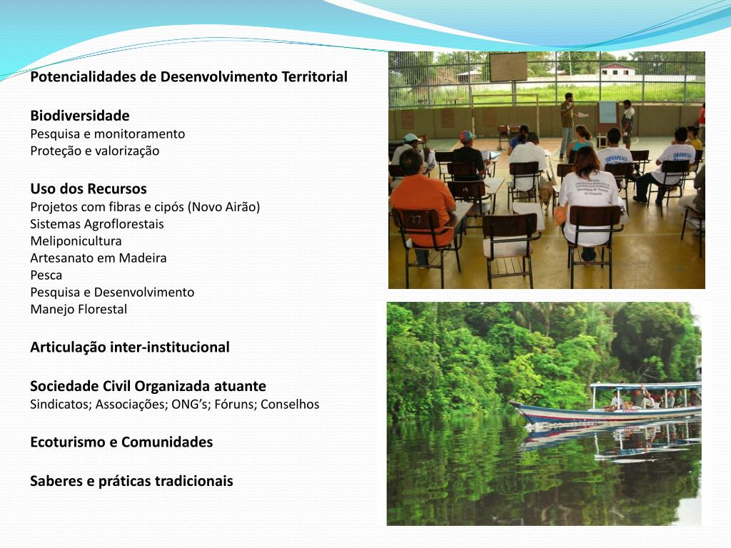 Potencialidades de Desenvolvimento Territorial