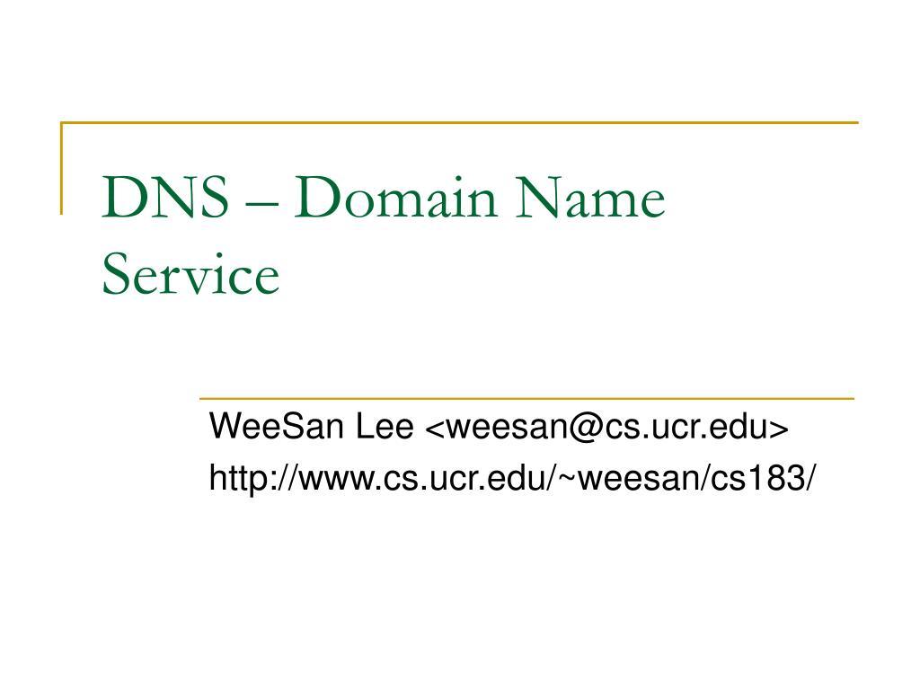 dns domain name service l.