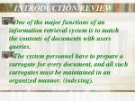 introduction review