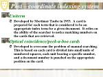 post coordinate indexing system