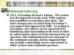 pre coordinate indexing system21