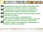 rules that govern posi