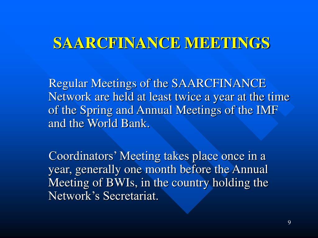 SAARCFINANCE MEETINGS