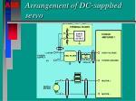arrangement of dc supplied servo