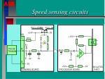 speed sensing circuits