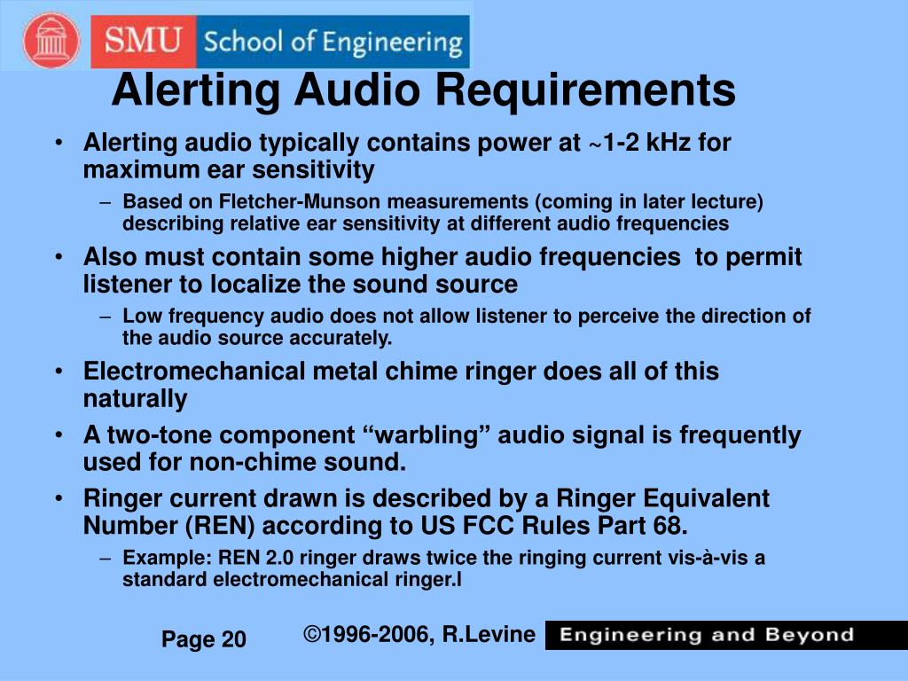 Alerting Audio Requirements