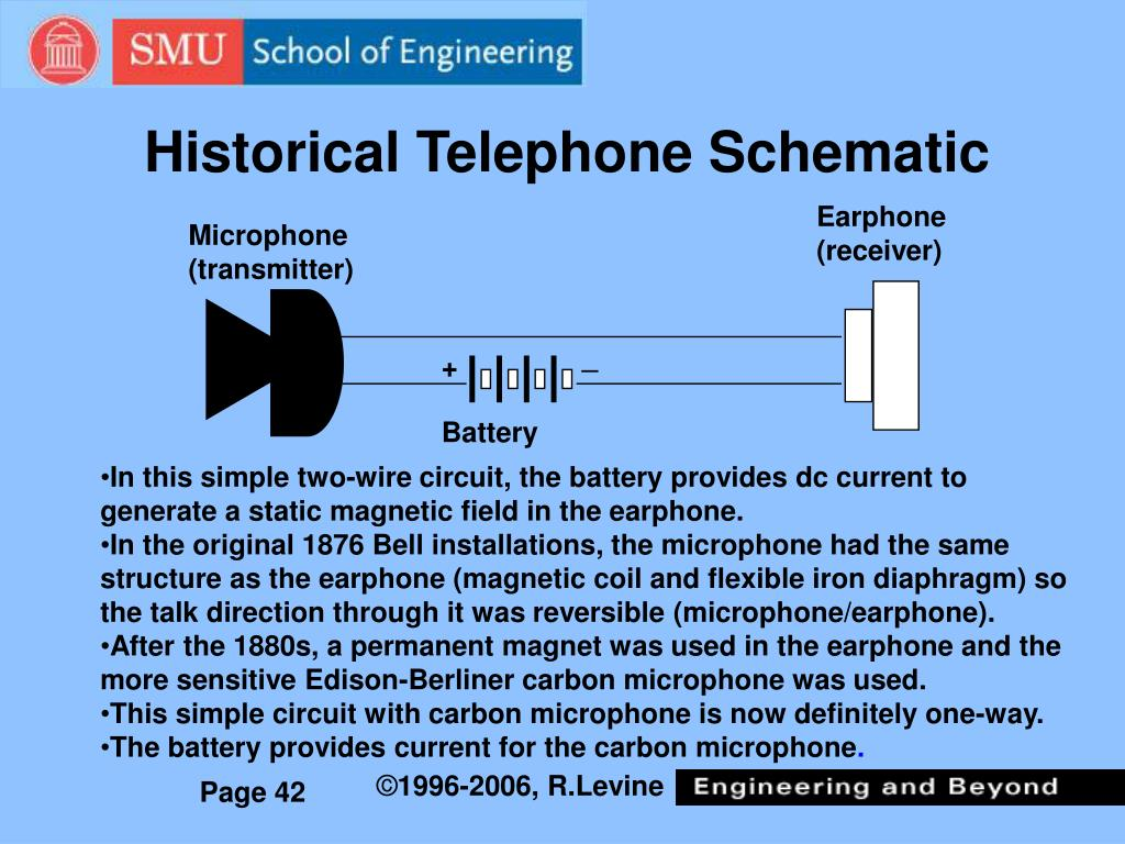 Historical Telephone Schematic