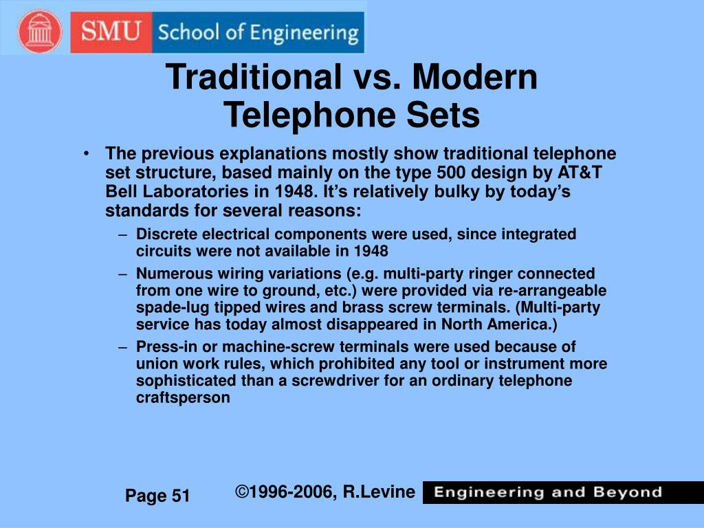 Traditional vs. Modern Telephone Sets
