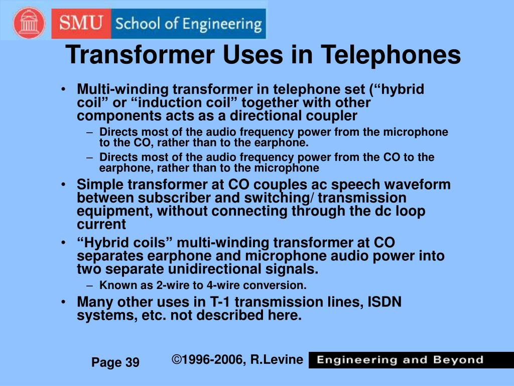 Transformer Uses in Telephones