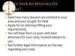 how to seek an attorney on internet