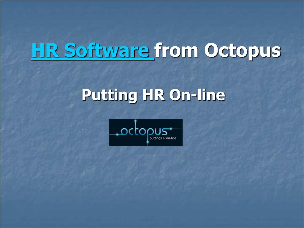 hr software from octopus l.
