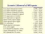 scenario 1 removal of mfa quota