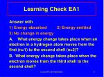 learning check ea1