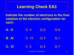 learning check ea3