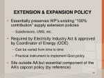 extension expansion policy
