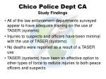 chico police dept ca study findings