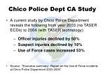 chico police dept ca study