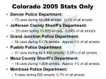 colorado 2005 stats only