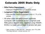 colorado 2005 stats only108