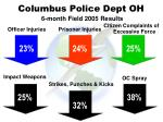 columbus police dept oh 6 month field 2005 results
