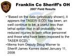 franklin co sheriff s oh 2007 field results55