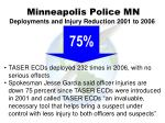 minneapolis police mn deployments and injury reduction 2001 to 2006