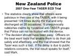 new zealand police 2007 one year taser ecd trial46