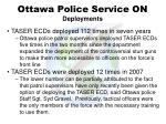 ottawa police service on deployments