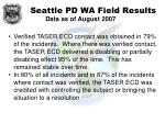 seattle pd wa field results