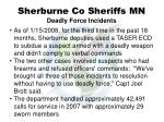 sherburne co sheriffs mn deadly force incidents