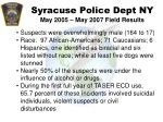 syracuse police dept ny may 2005 may 2007 field results57