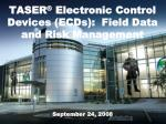 taser electronic control devices ecds field data and risk management