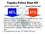 topeka police dept ks