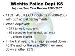 wichita police dept ks injuries two year review 2006 2007